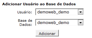 Associar User MySQL