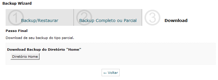 cPanel Backup Home